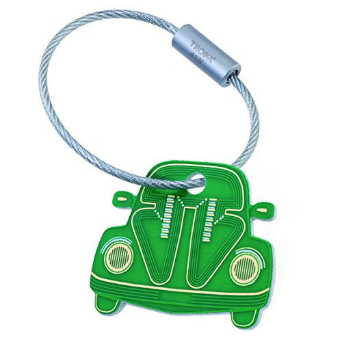 Schlüsselanhänger Auto Metall Vintage Käfer Keychain Car silberfarben
