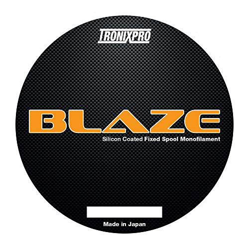 Tronixpro Blaze Fixed Spool Line Angelschnur, Orange, 0.30mm, 15.3lb, 300m von Tronixpro