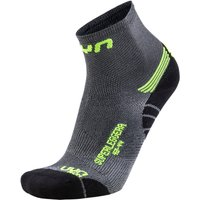UYN Run Superleggera Laufsocken silver/yellow fluo 45-47 von Uyn
