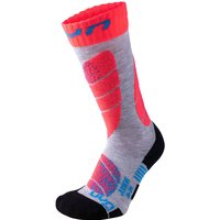 UYN Ski Socken Kinder light grey/coral 31-34 von Uyn