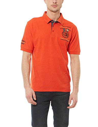 Ultrasport Fort Lauderdale Collection Poloshirt Herren Wadhurst klassisches Herren Polohemd im 3-Knopf-Style, Orange, XL von Ultrasport