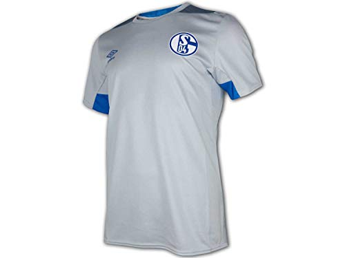 Umbro 2018-2019 Schalke Training Football Soccer T-Shirt Trikot (Blue) von Umbro