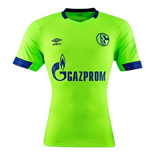 5d84489cbb31 Umbro Herren Fußballtrikot FC Schalke 04 3rd Kurzarm schwarz grün (702) S