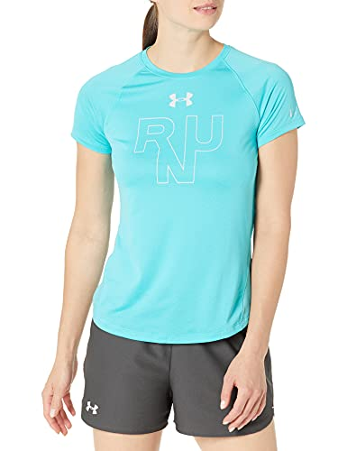 Under Armour Damen Qualifier Run Short Sleeve Kurzarmshirt, Blau, Medium von Under Armour