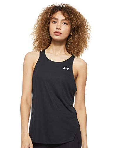 Under Armour Damen UA Speed Stride Tank leichtes und komfortables Tanktop, Schwarz, Large von Under Armour