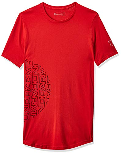 Under Armour Herren Baseline Flip Side Shortsleeve Tee Kurzarmshirt, Rot, Large von Under Armour
