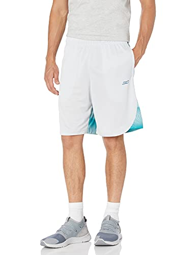 "Under Armour Curry Herren-Shorts, 25,4 cm, Herren, Shorts, Curry 10"" Elevated Short, Halo Gray (014)/Teal Vibe, Large von Under Armour"