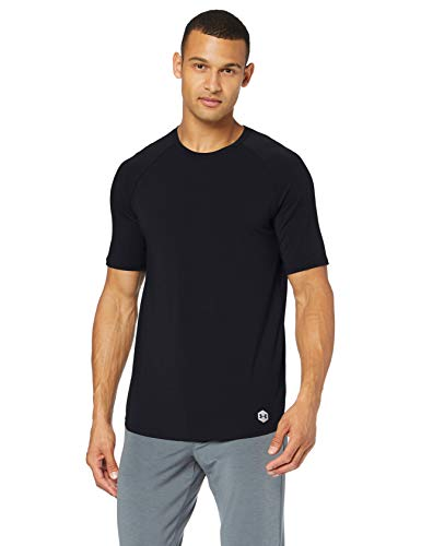 Under Armour Herren Recovery Sleepwear Shortsleeve Crew Unterziehshirt, Schwarz, X-Large von Under Armour