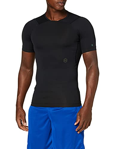 Under Armour Herren UA Compression Kompressionsshirt für Männer mit Rush-Technologie, Sportshirt mit Kompressionspassform, Schwarz, X-Large von Under Armour