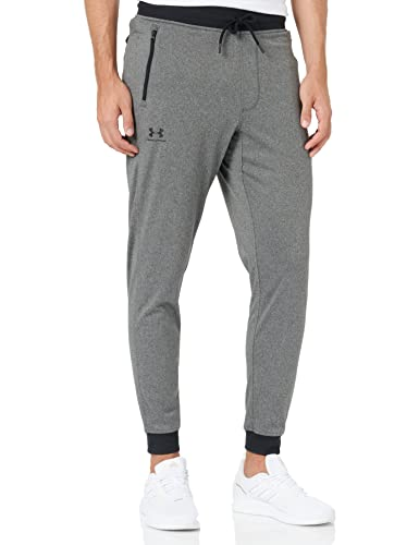 Under Armour Sportstyle Tricot Jogger, Warm and Comfortable Fleece Tracksuit Bottoms, Jogger Bottoms with Pockets Men, Grey (Carbon Heather/Black (090)), XX-Large von Under Armour