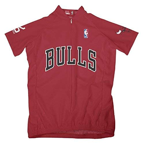 VOmax NBA Chicago Bulls Women's Short Sleeve Cycling Away Jersey, Large, Red von VOmax