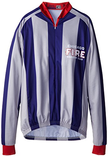 VOmax MLS Herren Trikot Chicago Fire gestreift Long Sleeve Jersey, Jungen, X-Large von VOmax