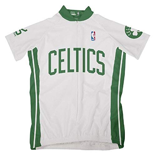 VOmax NBA Damen Radtrikot Boston Celtics Short Sleeve, Damen, weiß, Small von VOmax