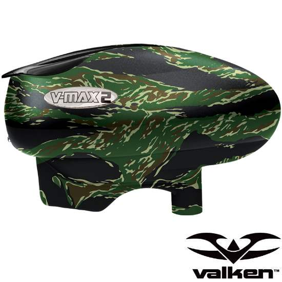 Valken V-Max2 Paintball Hopper / Loader (Tiger Stripe) von Valken