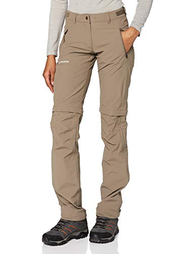 VAUDE Damen Hose Women's Farley Stretch ZO T-Zip Pants, Coconut, 46, 401445090460 von VAUDE