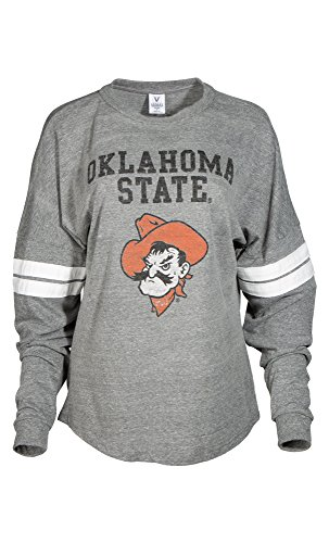 NCAA Damen Betty Long Sleeve Tri Blend Fußball Jersey T-Shirt, Damen, Tri Grey/White, X-Large von Venley