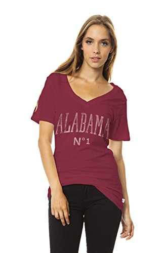 NCAA Damen Molly Slouch Pocket V-Neck Tee, Damen, Kardinalrot, Medium von Venley