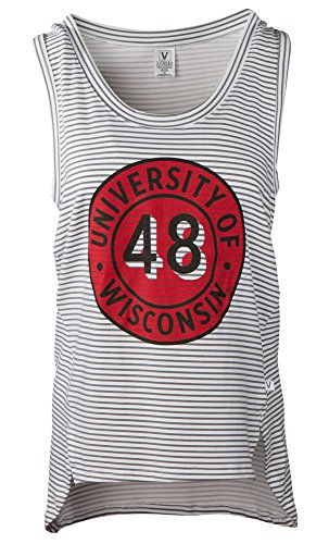 Venley Damen Tank Top NCAA Striped, Damen, gestreift, Large von Venley