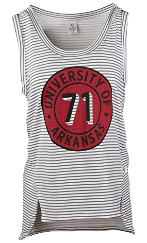 Venley Damen Tank Top NCAA Striped, Damen, gestreift, Medium von Venley