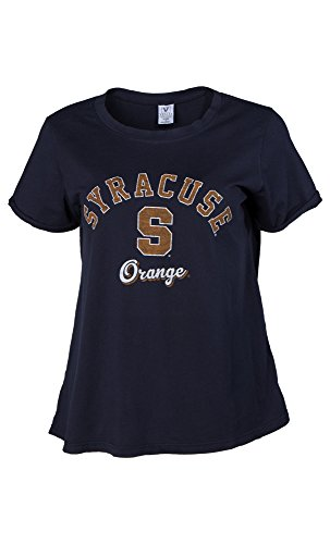 Venley NCAA Damen T-Shirt Tatum Slouchy Fashion Tee, Damen, Navy, Large von Venley