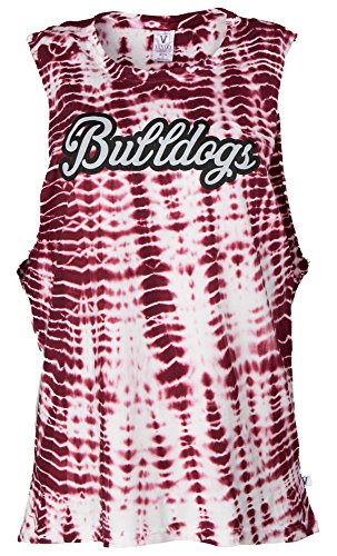 Venley NCAA Mississippi State Bulldogs Opal Women's Alligator-Wash Muscle Tank, X-Large, Maroon von Venley