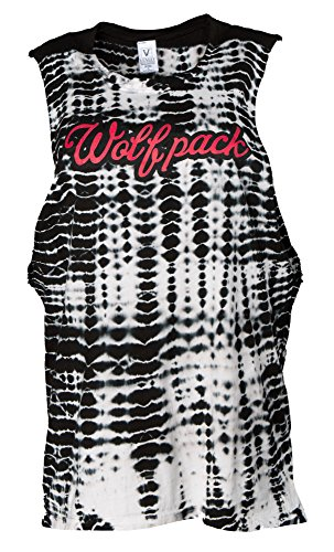 Venley NCAA NC State Wolfpack Opal Women's Alligator-Wash Muscle Tank, Large, Black von Venley
