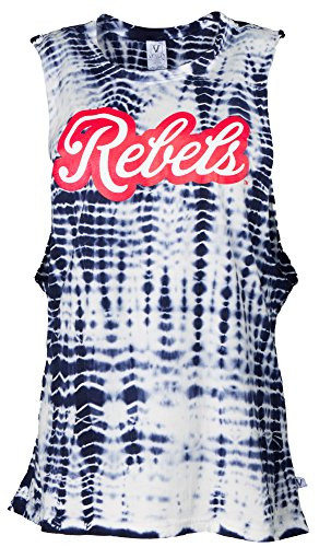 Venley NCAA Ole Miss Rebels Opal Women's Alligator-Wash Muscle Tank, Medium, Navy von Venley
