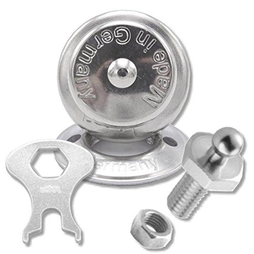 Rundknopf Gummiseilhalter Edelstahl A4  Persenning Knöpfe  Gummileine 10 Stück