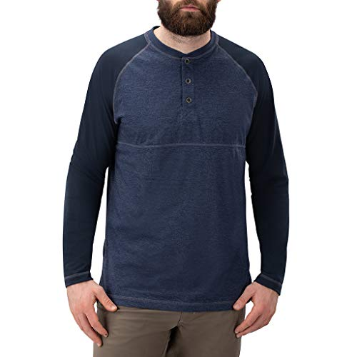 Vertx Herren Action Weaponguard Henley Langärmelig, Heather Indigo, Large von Vertx