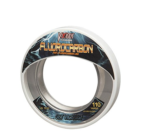 Vicious Fishing EFLWS20 Fluorocarbon Leader Clear 20 lb. Test 33 Yards von Vicious Fishing