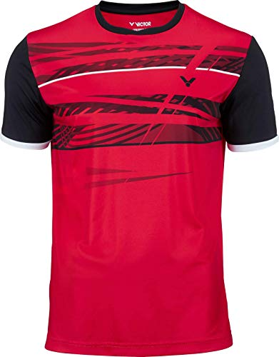 Victor T-Shirt Function Badmintonshirt, red, XS von Victor