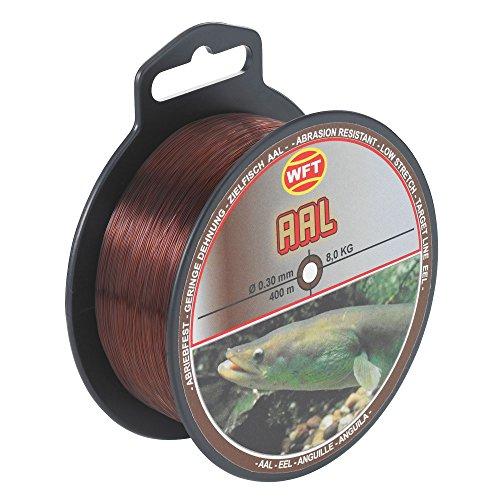 WFT Zielfisch Karpfen 300m 0,35mm 10,4kg grau Monofil Schnur zum Karpfenangeln Karpfenschnur Angelschnur zum Angeln auf Karpfen