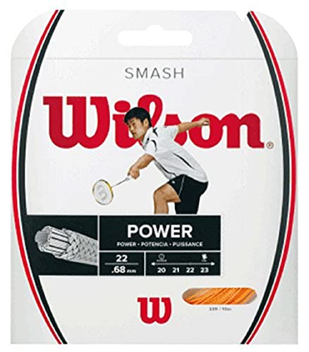 Wilson Badminton-Saite, Smash 66, 10 Meter, 0,68 mm Dicke, Orange, WRR9429OR von Wilson