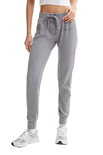 WSLY Damen The Ecosoft Tie Up Jogger, Damen, Hosen, The Ecosoft Tie Up Jogger, Grey Heather, X-Large von WSLY