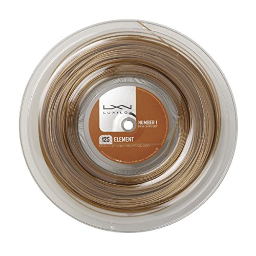Luxilon Tennissaite, Element, 200 Meter Rolle, Bronze, 1,25 mm, Unisex, WRZ990106 von WILSON