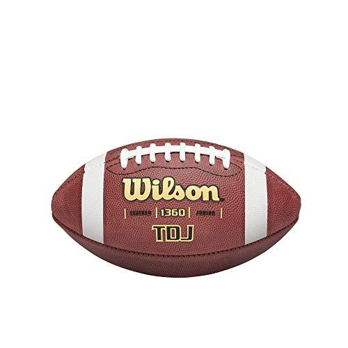 Wilson TDJ Junior Leather Game Football von WILSON