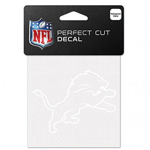 WinCraft NFL Detroit Lions 4x4 Perfect Cut White Decal, One Size, Team Color von WinCraft