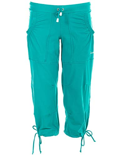 Winshape Damen Feel Good 3/4 Trainingshose WBE6 Dance Fitness Freizeit Sport, Ocean-Green, M von WINSHAPE