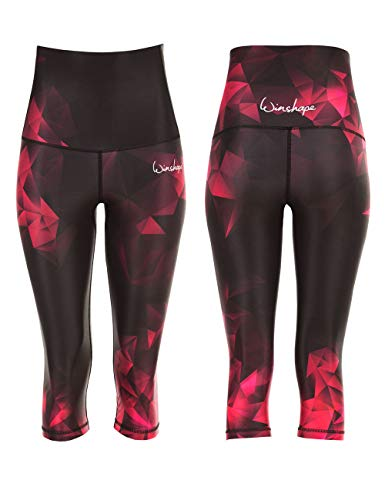 WINSHAPE Damen Functional Power Shape HWL202 ¾-Leggings, Rubin, L von WINSHAPE
