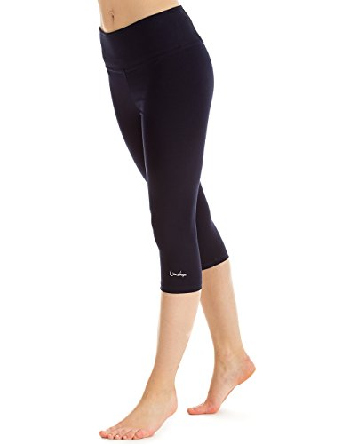 WINSHAPE Damen Slim Tights Leggings WTL2 Fitness Yoga Pilates, Night-Blue, S von WINSHAPE