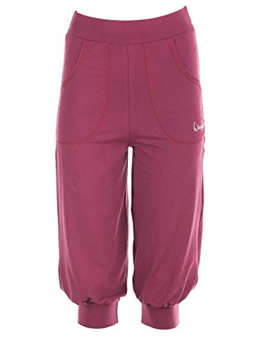 Winshape Damen luftig-legere 3/4-High Waist-Trainingshose WBE12, All-Fit Style, Fitness Freizeit Sport, Berry-Love, XL von Winshape
