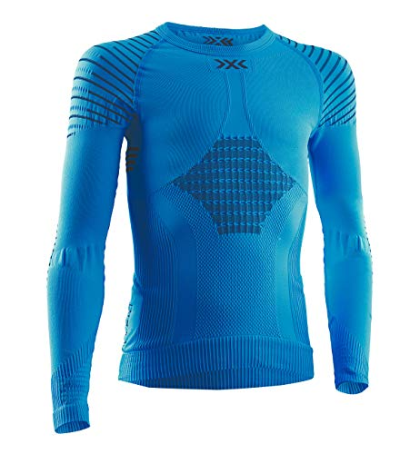 X-Bionic Kinder Invent 4.0 Shirt Round Neck Long Sleeves JUNIOR, Teal Blue/Anthracite, 10/11 von X-Bionic