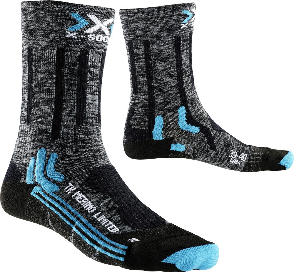 X-Socks Damen Outdoorsocke Trekking Merino Limited Grau - X100078-G174 von X-Socks