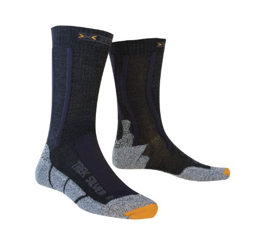 X-Socks Funktionssocken Trekking Silver, Black/Anthracite, 35/38, X020318 von X-Socks