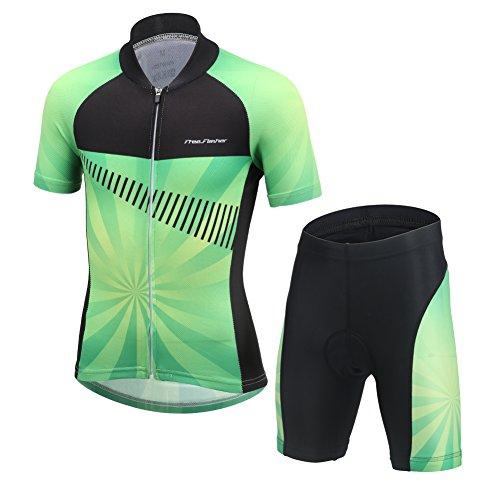 JY835 Herren Damen Atmungsaktiv Radfahren Radtrikot Fahrradtrikot /& Radlerhose
