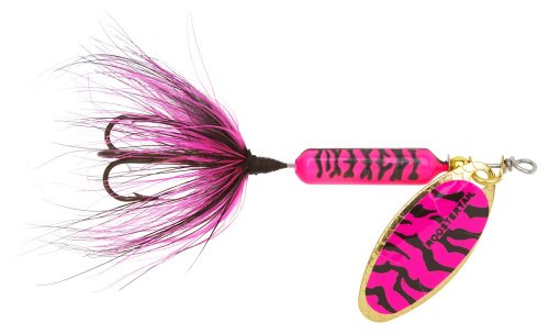 Yakima Bait Wordens Original Rooster Tail Spinner, Pink Black Tiger, 1/16-Ounce von Yakima Bait