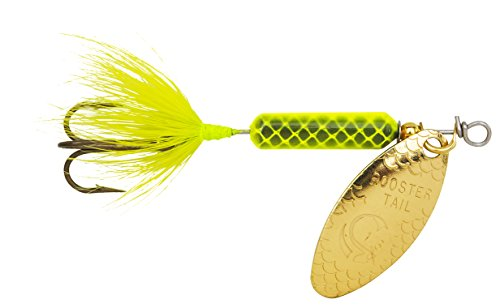 Yakima Bait Wordens Original Rooster Tail Spinner Lure, 3 Pack, Wordens Original Rooster Tail 1/4oz Spinner Lure- Chartreuse, Hellgrün, 206-1/4oz von Yakima Bait