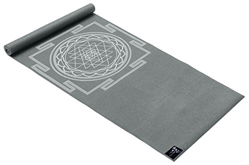 Yogistar Yogamatte Basic Sri Yantra, graphit von Yogistar