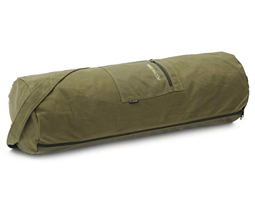 YOGISTAR Yogatasche yogibag basic - zip - cotton - big plus - 73 cm olive von YOGISTAR