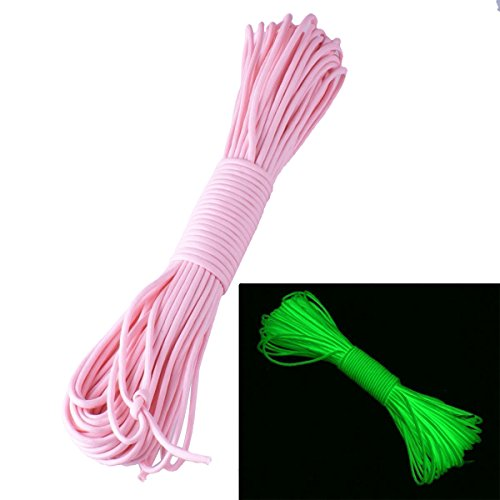 ZJchao (TM) 9 Stränge 550 Luminous Glow in the Dark Paracord 7,6 m Rosa - rose von ZJchao